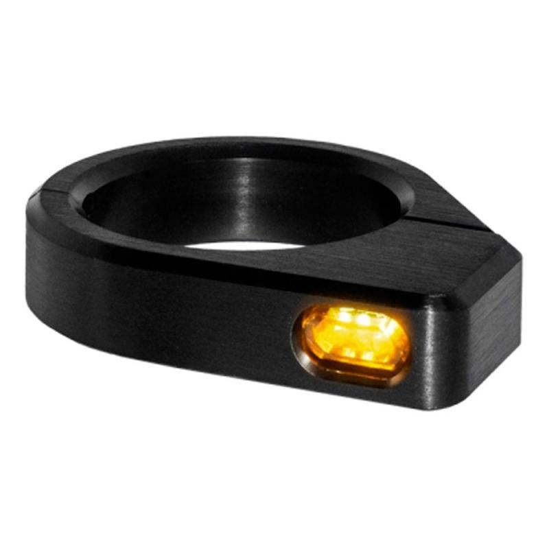 Clignotants de fourche Heinz Bikes Micro LED noir Ø 54 – 56