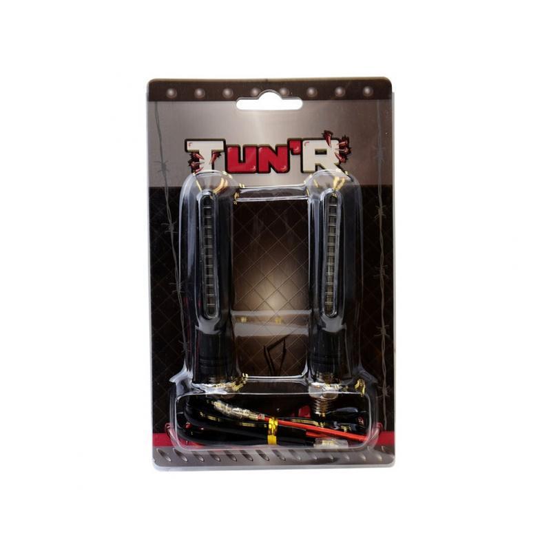 Clignotants LED Tun'R Smogg V2 séquentiels noir/fumé (paire) - 1