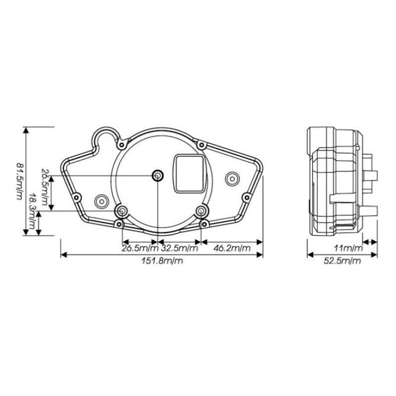 Compteur Koso RX1N GP Style fond blanc - 2