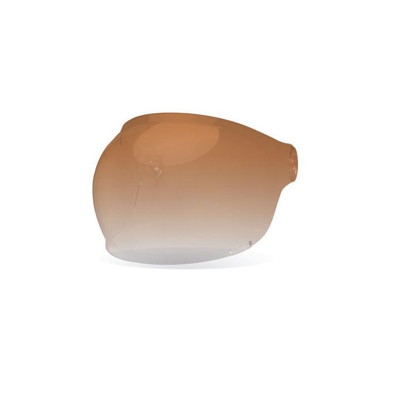 Ecran Bell Bubble pour Bullitt - ambre dégradé - fermeture marron