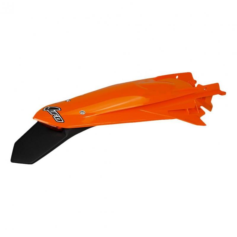 Garde-boue arrière + support de plaque avec feu UFO KTM 150 EXC TPI 20-21 orange