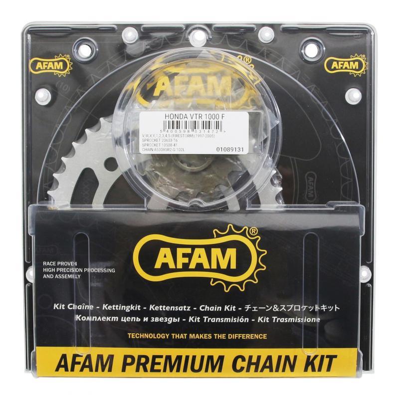 Kit chaîne Afam 16x51 pas 530 Honda VTR 1000 Firestorm 97-06 - 1