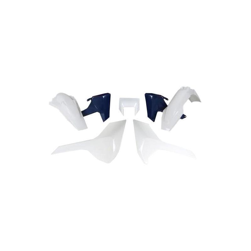 Kit plastique RTech Husqvarna 250 TE 17-19 blanc (couleur OEM 2019)