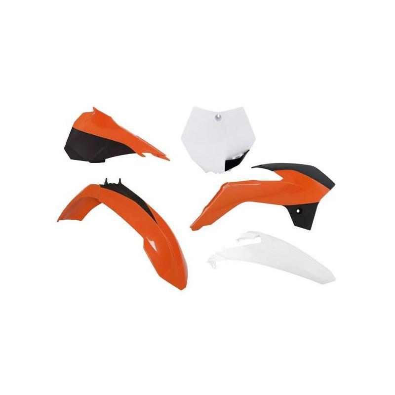 Kit plastique RTech KTM 85 SX 13-17 noir/orange/blanc (couleur OEM 2016)