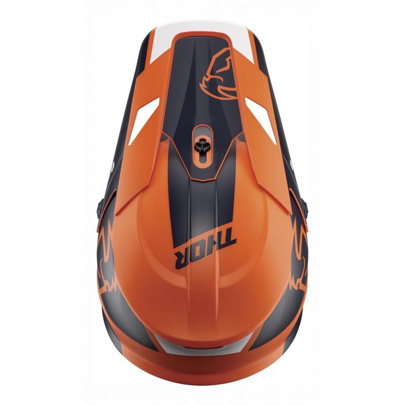 Kit visière Thor pour casque Split Mips orange/navy