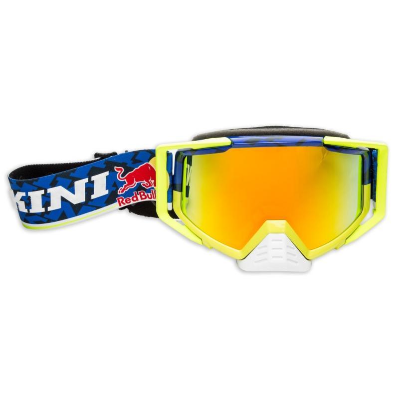 Masque cross Kini Red Bull Competition bleu marine/jaune