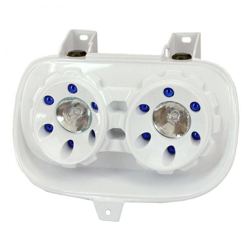 Masque Halogène Double Optique Blanc adaptable pour Booster -2004