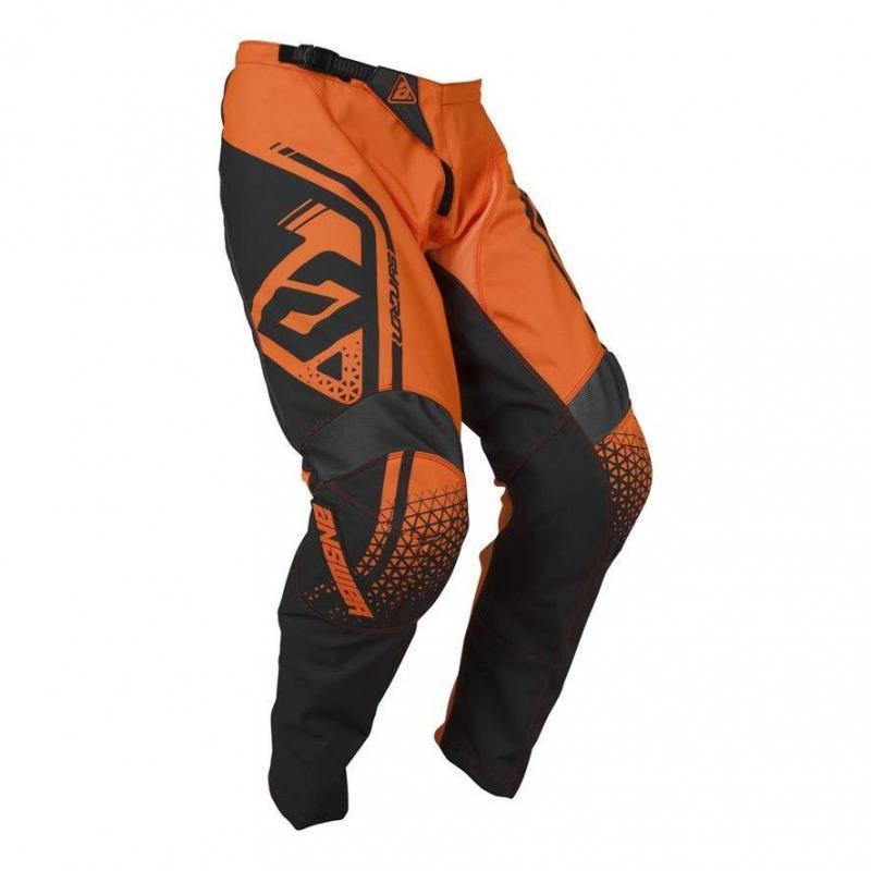Pantalon cross enfant Answer Syncro Drift orange fluo/charcoal - 1