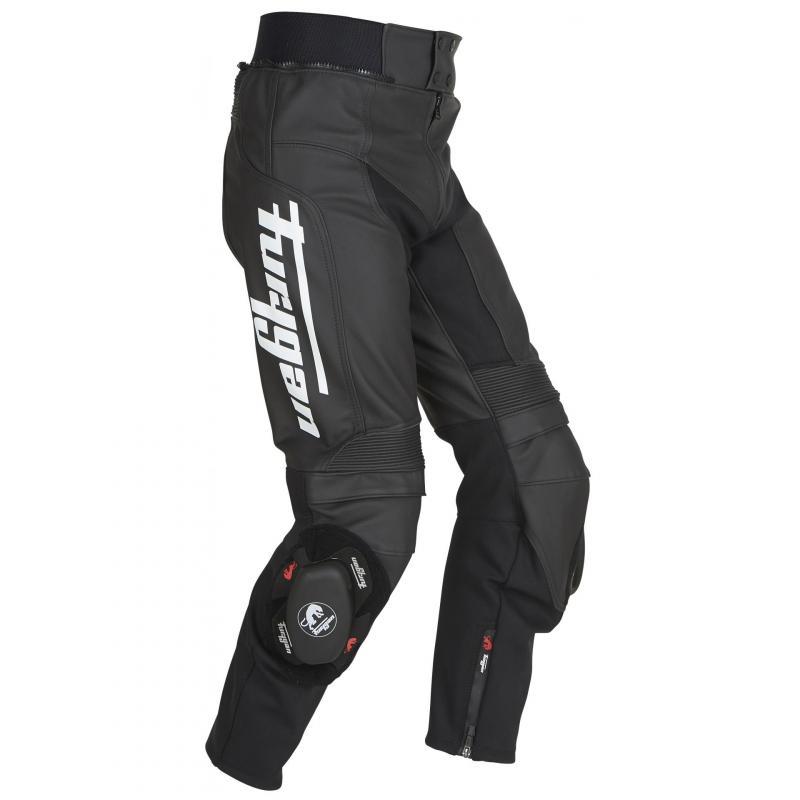 Pantalon cuir Furygan Bud Evo 3 noir/blanc - 2