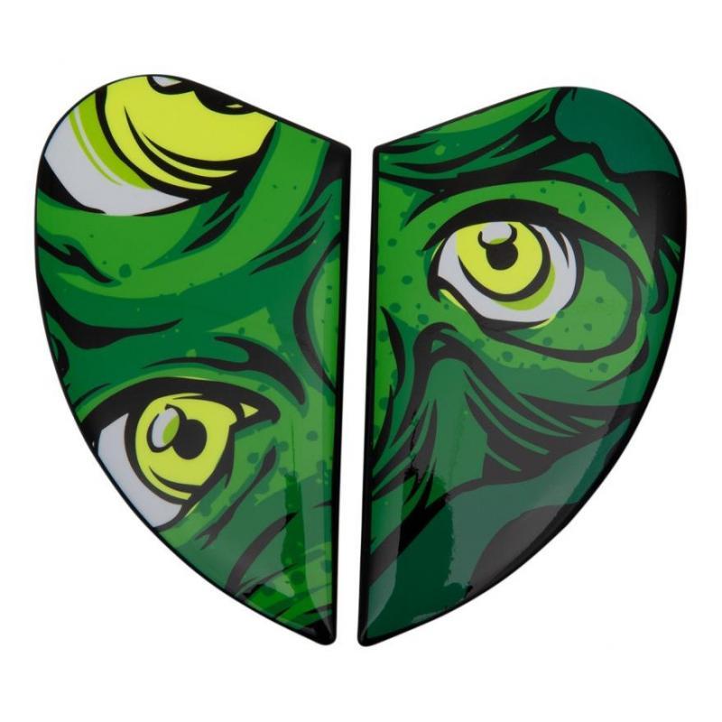 Plaques latérale Icon pour casque Airform Illuminatus vert