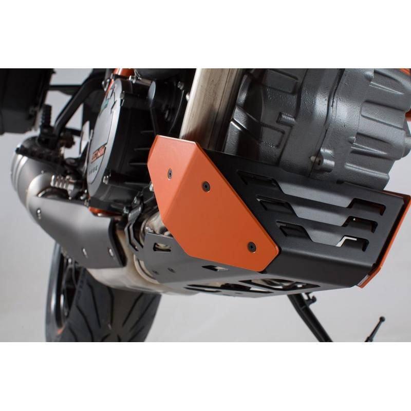 Sabot moteur SW-Motech orange KTM 1290 Super Duke R 14-19 - 2