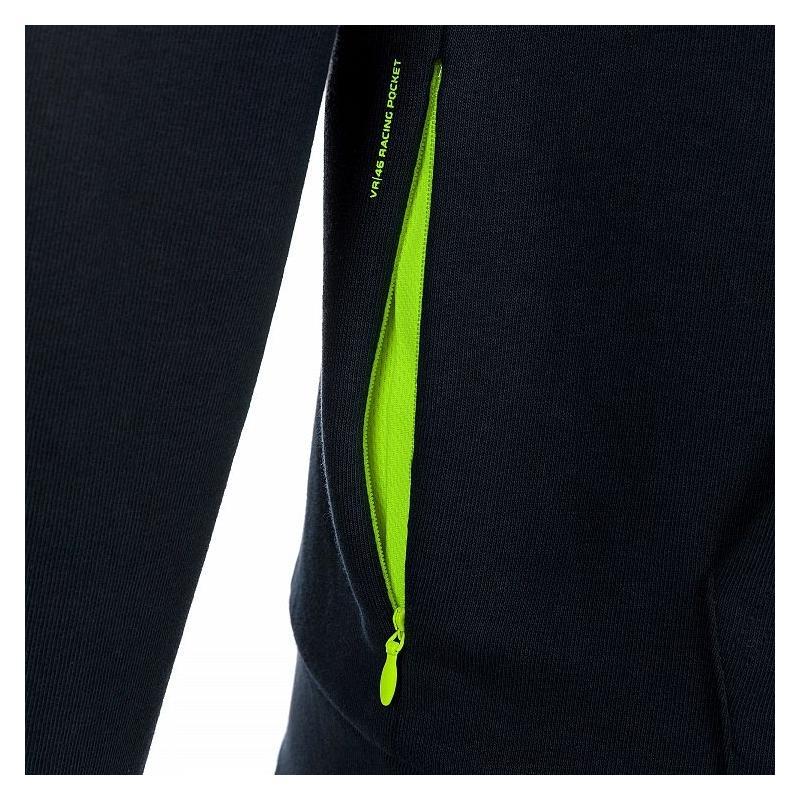 Sweat à capuche zippé VR46 Core bleu - 2
