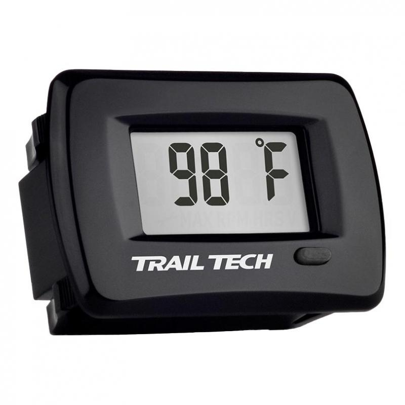 Thermomètre moteur Trail Tech TTO noir encastrable capteur durite Ø 25 mm
