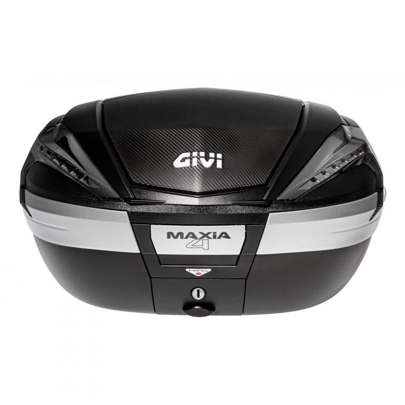 Top case Givi V56 MAXIA4 56L noir/carbone catadioptres fumés - 3