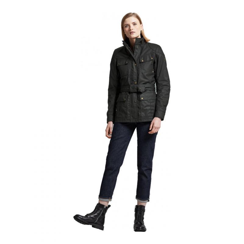 Veste textile femme Belstaff Trialmaster Pro Wax Racing Lady noir - 2