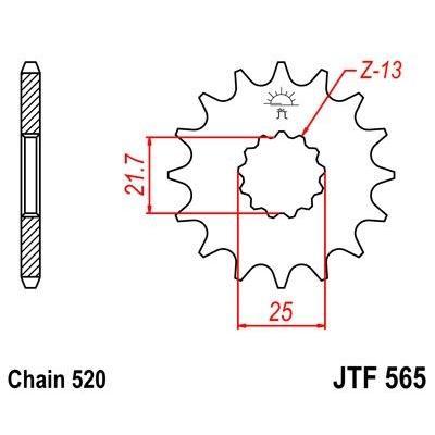 Pignon JT Sprockets Acier pas 520 15 dents - Pour Kawasaki Versys 650 07-16