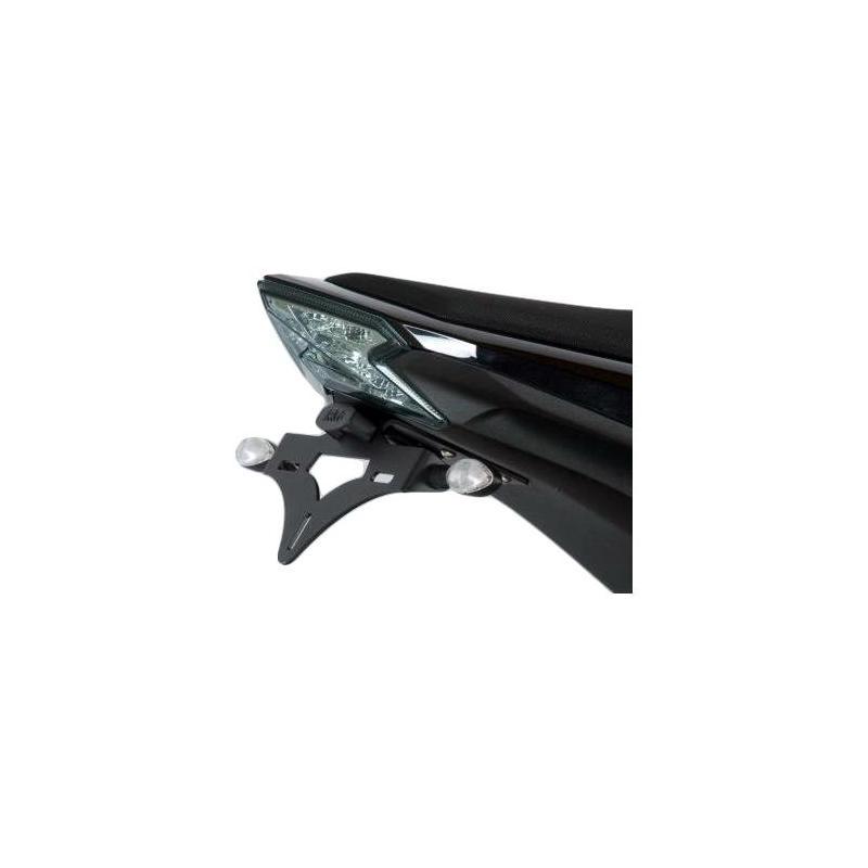 Support de plaque d'immatriculation R&G Racing noir Kawasaki Z 800 13-17 avec micro clignotants