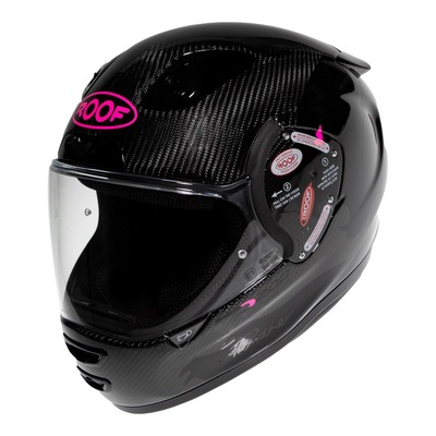 Casque intégral Roof RO200 Carbon Panther noir/rose fluo