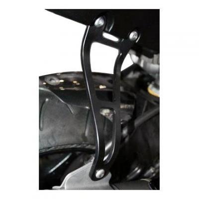 Patte de fixation de silencieux R&G Racing noire Suzuki GSX-R 600 08-10 l'unité