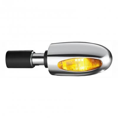 Clignotant embout de guidon Kellermann BL 1000 hallogène aluminium poli lentille ambre