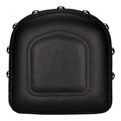 Coussin de sissybar Saddlemen carré noir avec coutures et clous