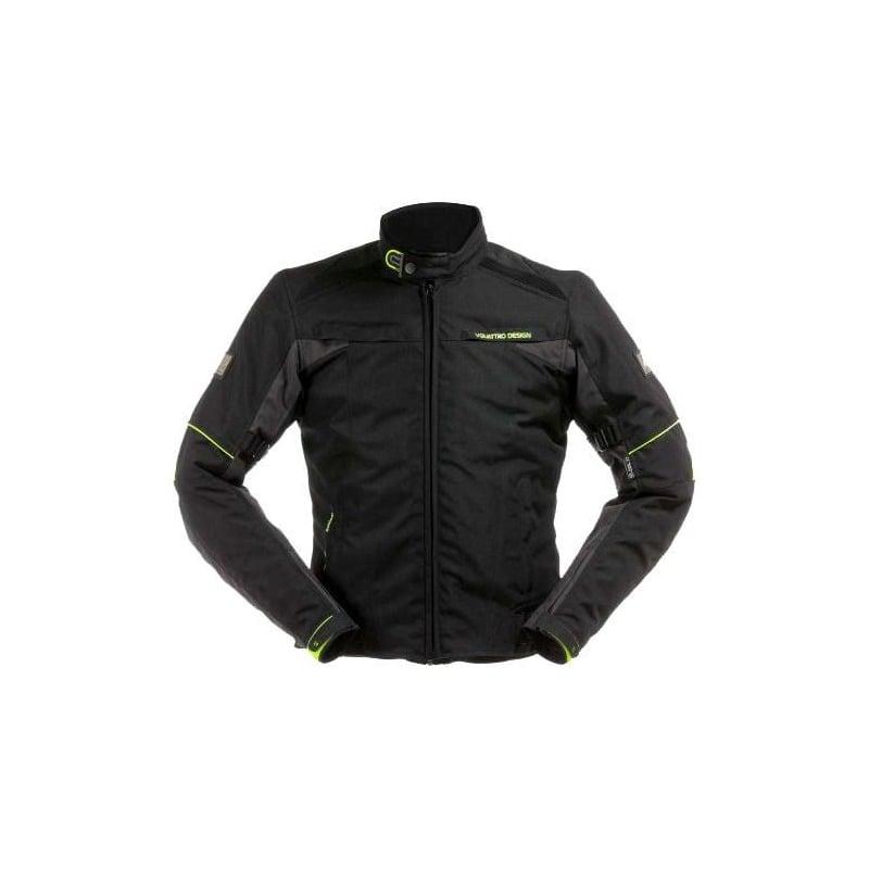 Blouson textile V'Quattro Lorenzo noir/anthracite/jaune