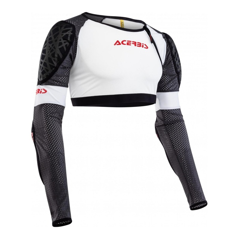 Gilet de protection court Acerbis Veste Galaxy blanc/noir/rouge