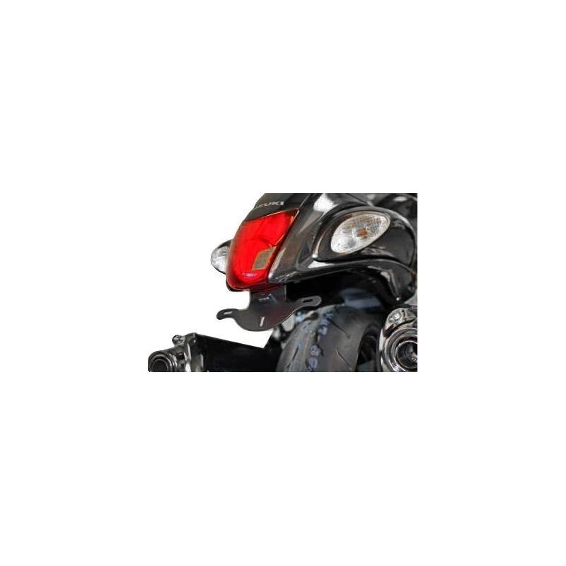 Support de plaque d'immatriculation R&G Racing noir Suzuki GSX 1340 R Hayabusa 08-17