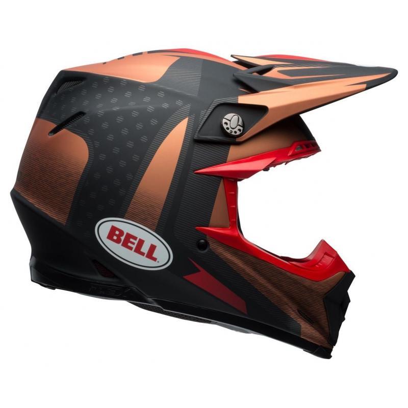 Casque cross Bell Moto 9 Flex Matte copper/black vice - 8