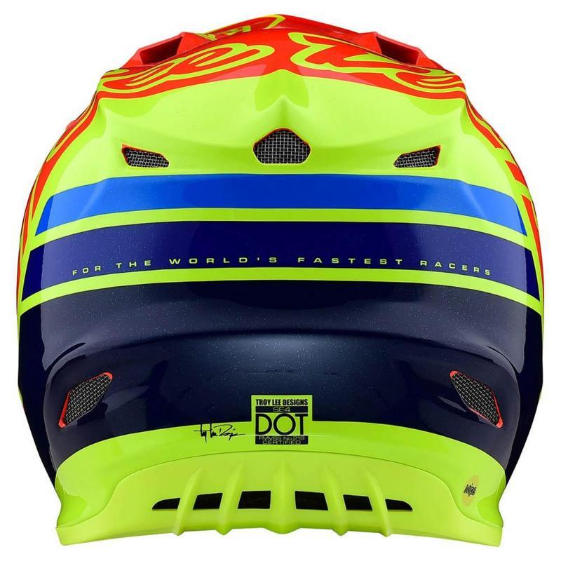 Casque cross Troy Lee Designs SE4 Composite Silhouette Mips orange/jaune - 2