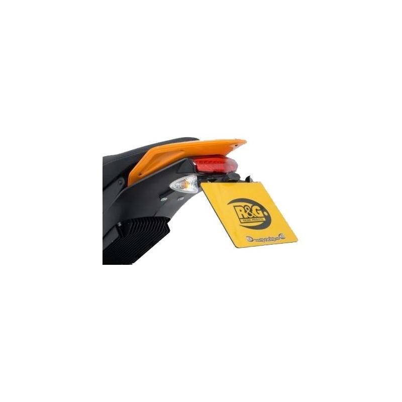 Support de plaque d'immatriculation R&G Racing noir Zero DS 13-17