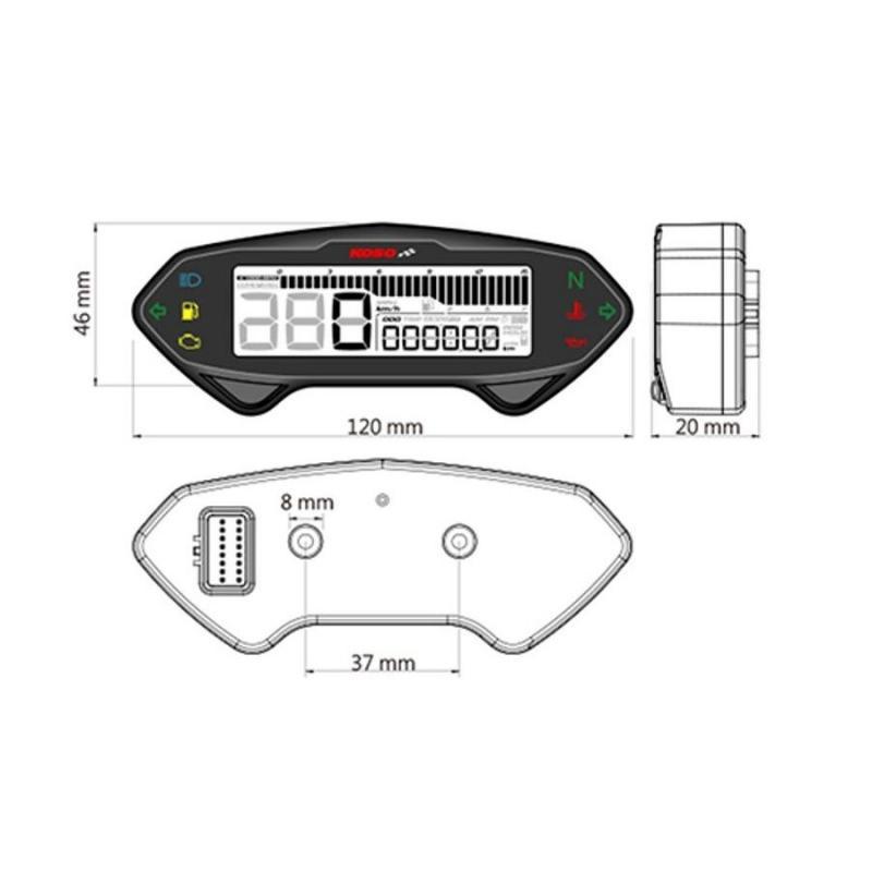 Compteur digital multifonction Koso DB-01RN - 2
