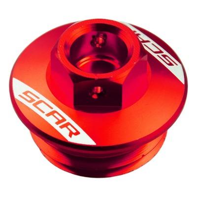Bouchon de remplissage d'huile Scar aluminium rouge pour Suzuki RM 125 90-08