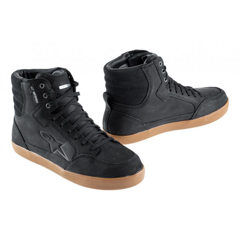 Chaussures moto Alpinestars J-6 Waterproof noir/gum