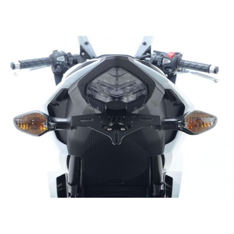 Support de plaque d'immatriculation R&G Racing noir Honda CBR 500 R 16-18 - 4