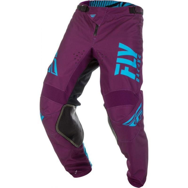 Pantalon cross enfant Fly Racing Kinetic Shield pourpre/bleu