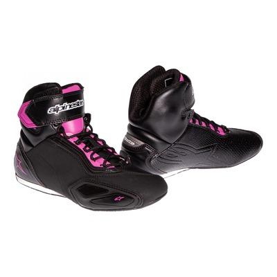 Baskets femme Alpinestars STELLA FASTER-2 noir/fushia