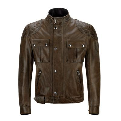 Blouson cuir Belstaff BROOKLANDS marron