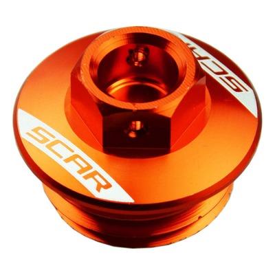 Bouchon de remplissage d'huile Scar aluminium orange pour KTM SX 125 06-16