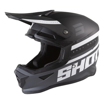 Casque cross Shot Furious Shining mat noir/gris
