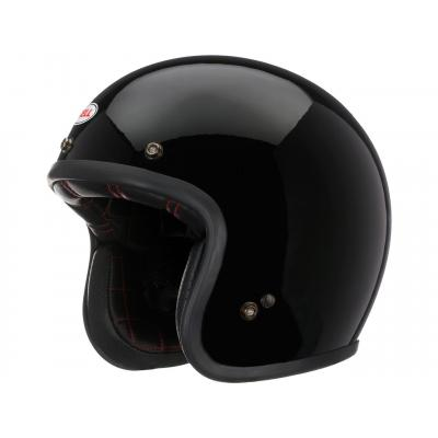 Casque jet Bell Custom 500 DLX noir brillant