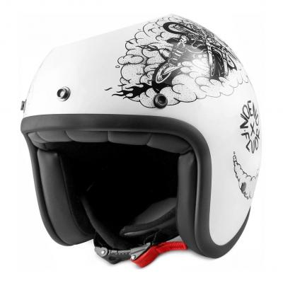 Casque jet Noend Tribute To Fluor blanc