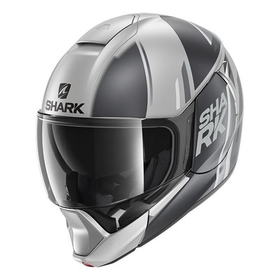 Casque modulable Shark Evojet Vyda Mat argent/anthracite