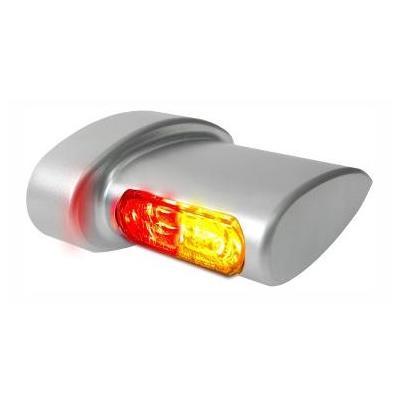 Clignotants de garde-boue arrière Heinz Bikes Micro LED alu mat avec feu arrière et feu stop intégré