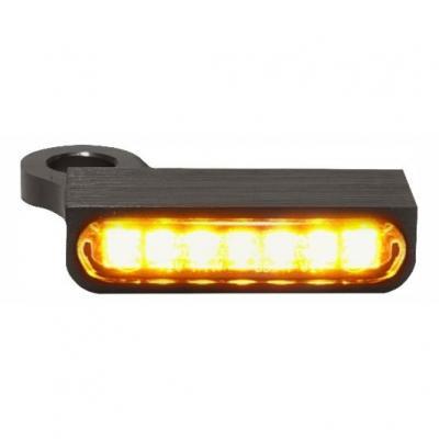 Clignotants de guidon Heinz Bikes LED noir/ambre Harley Davidson XL1200X Forty-Eight 14-19