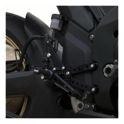 Commandes reculées R&G Racing noir Yamaha YZF-R1 07-08