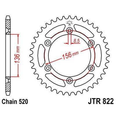 Couronne JT Sprockets Acier pas 520 52 dents - Pour Husqvarna TC 610 91-03