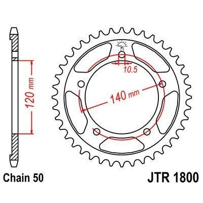 Couronne JT Sprockets Acier pas 530 42 dents - Pour Suzuki GSX-R 1000 01-06