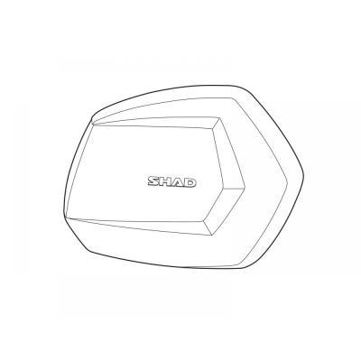 Couvercle aluminium Shad pour valise latérale SH35 (droit)