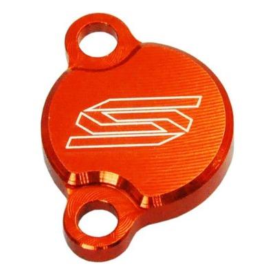 Couvercle de maître cylindre de frein arrière Scar aluminium anodisé orange pour KTM SX 65 04-11